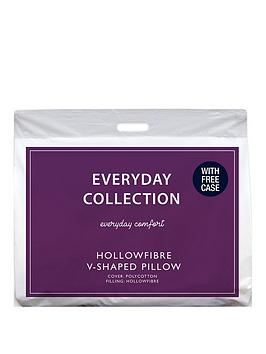 Everyday Collection V-Shaped Hollowfibre Support Pillow With Free Case