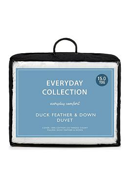 Everyday Collection Duck Feather And Down 15 Tog Duvet