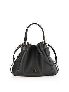 coach-edie-28-double-handle-shoulder-bag--black