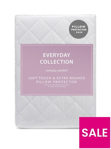 everyday-collection-soft-touch-amp-extra-bounce-pillow-protector-pair