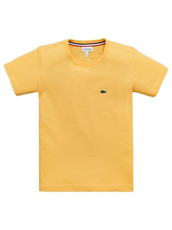 72a425367e53 Lacoste Boys Classic Short Sleeve T-shirt