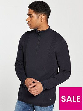 boss-zip-neck-jumper