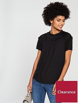 v-by-very-shirred-neck-jersey-top-blacknbsp