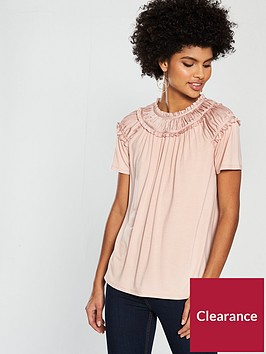 v-by-very-shirred-neck-jersey-top-peach-pinknbsp