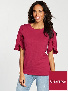 v-by-very-ruffle-sleeve-detail-t-shirt-cherry