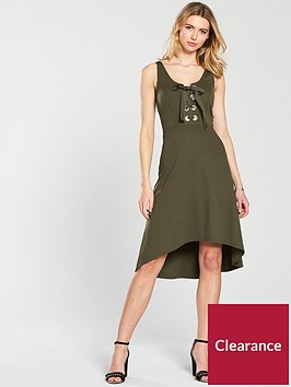 v-by-very-large-eyelet-hi-lo-jersey-dress-khaki