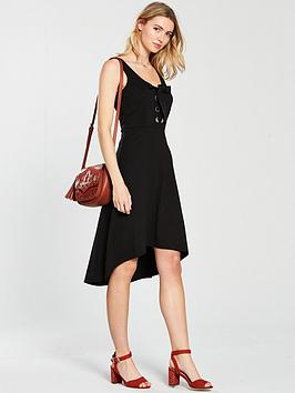v-by-very-large-eyelet-hi-lo-jersey-dress-black
