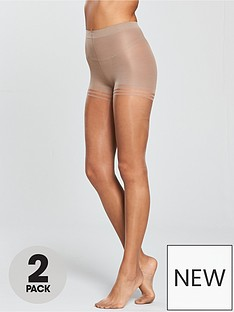 pretty-polly-2-pack-nylons-secret-slimmer-sheer-gloss-tights-sherry