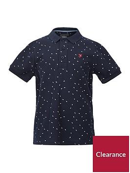 farah-boys-printed-short-sleeve-polo