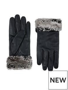 accessorize-faux-fur-trim-leather-gloves