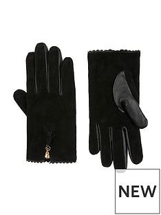 accessorize-zip-tassel-suede-gloves