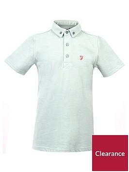farah-boys-short-sleeve-marl-polo