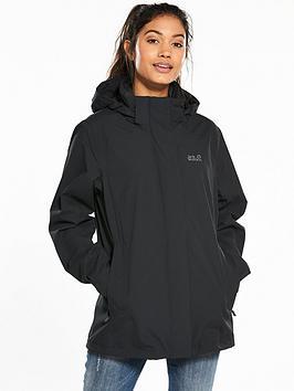 Jack Wolfskin Highland Waterproof Jacket - Black