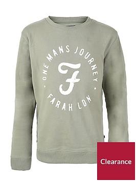 farah-boys-logo-crew-neck-sweat