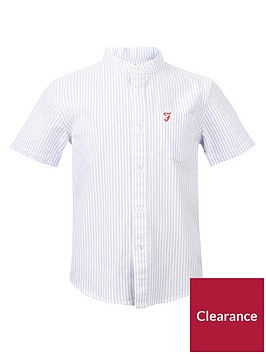 farah-boys-short-sleeve-vertical-stripe-oxford-shirt