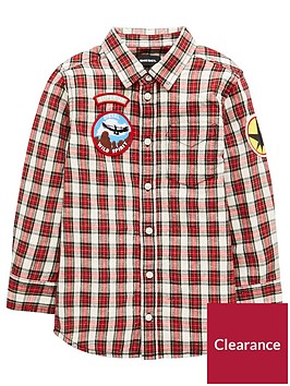 diesel-boys-badge-long-sleeve-check-shirt