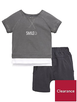 mini-v-by-very-toddler-boys-2-piece-layered-smile-t-shirt-and-shorts-set-grey