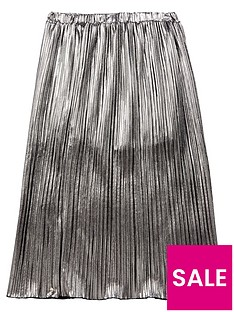 diesel-girls-pleated-metallic-skirt