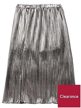 diesel-girls-pleated-metallic-skirt