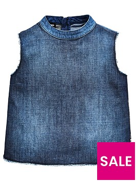 diesel-girls-denim-sleeveless-top