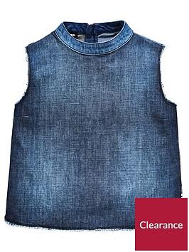 diesel-girls-denim-sleeveless-top