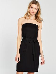 v-by-very-bandeau-tie-waist-jersey-dress-black