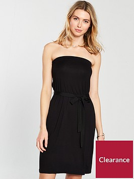 v-by-very-bandeau-tie-waist-jersey-dress-black