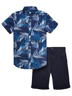 v-by-very-palm-print-shirts-and-chino-shorts