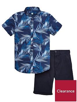 v-by-very-palm-print-shirts-and-chino-shorts