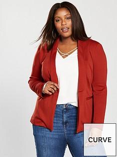 v-by-very-curve-jersey-blazer-rust
