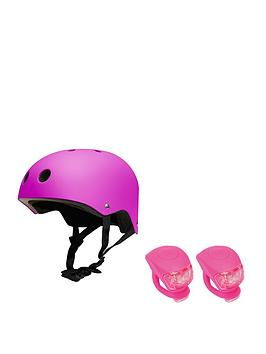 feral-helmet-50-54cm-black-with-urban-proof-silicone-bike-light-set
