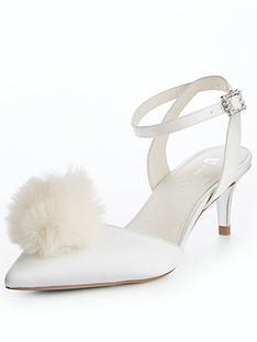 v-by-very-leila-bridal-pom-kitten-heel-ivory