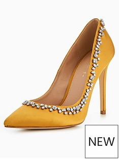 v-by-very-selena-jewel-detail-point-court-yellow