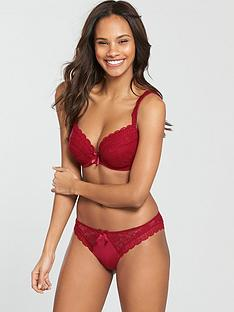 pour-moi-rebel-padded-plunge-bra-red