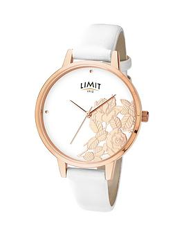 limit-rose-gold-plated-white-strap-amp-floral-dial-ladies-watch