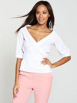 v-by-very-wrapped-deconstructed-peplum-shirt-white