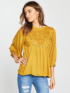 v-by-very-eyelet-detail-bib-top