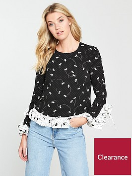 v-by-very-mixed-print-monochrome-floral-top