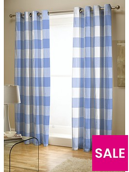 catherine-lansfield-boston-check-lined-eyelet-curtains