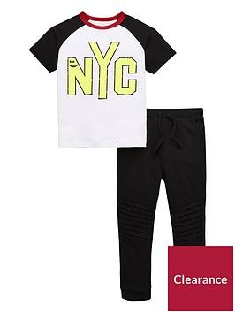 mini-v-by-very-boys-nyc-tee-and-jogger-set