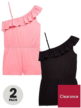 v-by-very-girls-2-pack-off-the-shoulder-playsuits