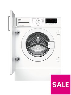 Beko WIY72545 7kg Load, 1200 Spin Built-in Washing Machine - White