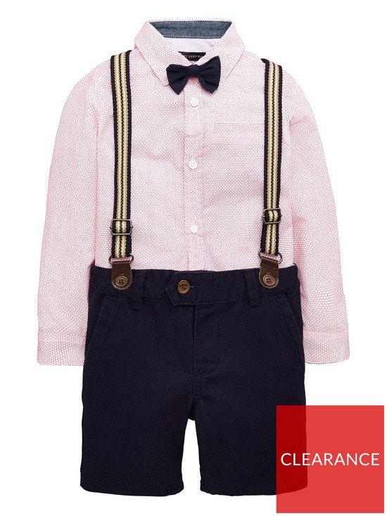 0d30999e6 Mini V by Very Boys Shirt Bow Tie And Short Set | very.co.uk