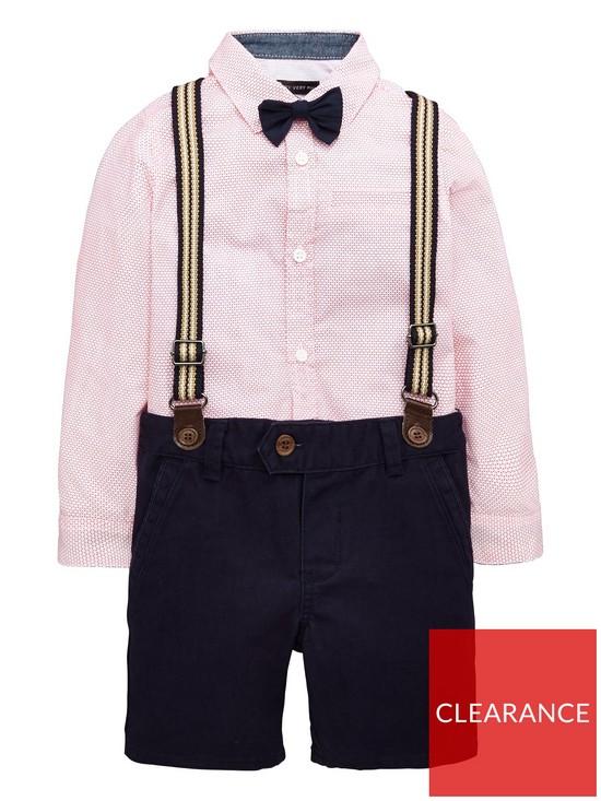 95d9aab6b Mini V by Very Boys Shirt Bow Tie And Short Set