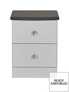 SWIFT Napoli Ready Assembled 2 Drawer Bedside Chest(5 Day Express Delivery)