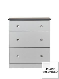 SWIFT Napoli Ready Assembled 3 Drawer Graduated Chest