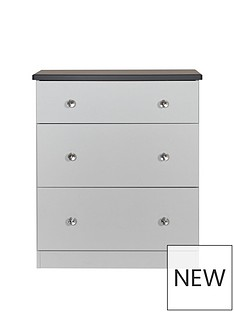 SWIFT Napoli Ready Assembled 3 Drawer Graduated Chest(5 Day Express Delivery)