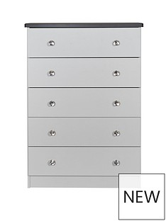 SWIFT Napoli Ready Assembled Chest of 5 Drawers (5 Day Express Delivery)