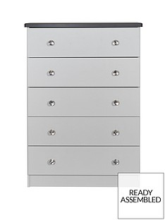 SWIFT Napoli Ready Assembled Chest of 5 Drawers(5 Day Express Delivery)