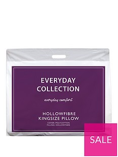 Everyday Collection King Size Hollowfibre Pillow with Case
